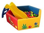 Сухой бассейн для детей с шарами и горкой аренда прокат