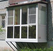 Подвесные балконы ПВХ под ключ