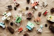 Ёлочные игрушки и сувениры из дерева,  ручной работы